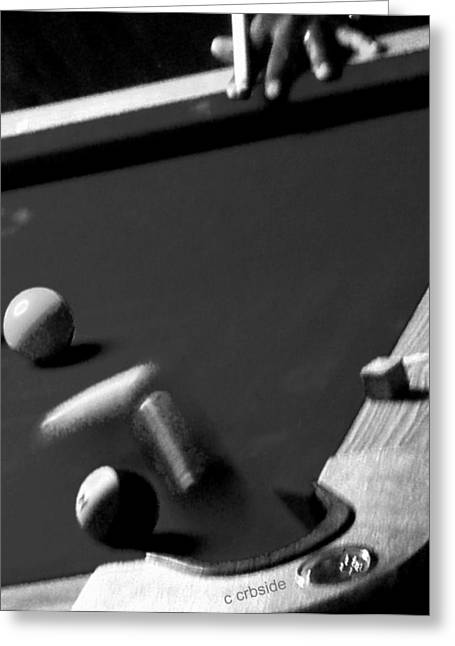 Pool Balls Greeting Card by Chris Berry