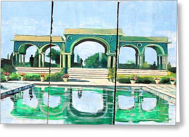 Poolside In Basrah Greeting Card by Unknown - Local Iraqi National