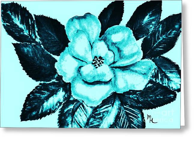 Pop Art Rose Greeting Card by Marsha Heiken