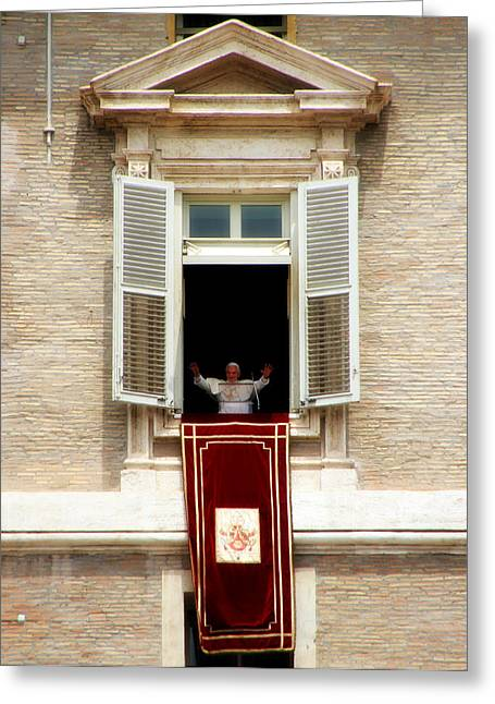 Pope Benedict Xvi A Greeting Card by Andrew Fare