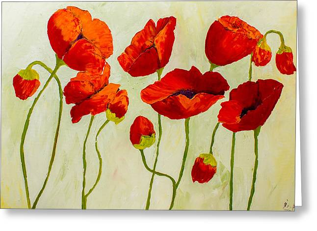 Poppies IIi Greeting Card by Isabella Talbot-Imber