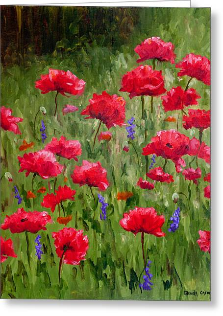 Poppies In A Meadow I Greeting Card