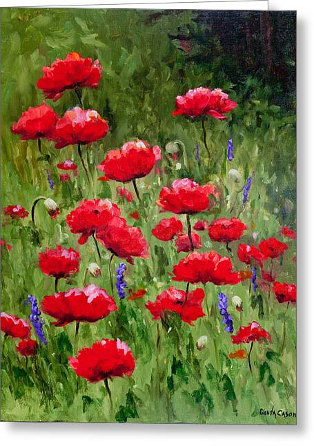 Poppies In A Meadow II Greeting Card