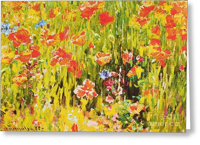 Poppies Greeting Card by Pg Reproductions