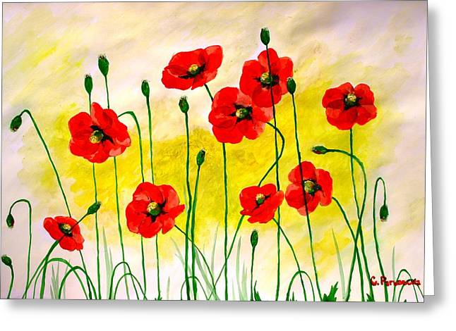 Poppies Greeting Card by Sonya Ragyovska