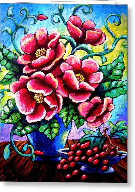 Poppin' Poppies Greeting Card