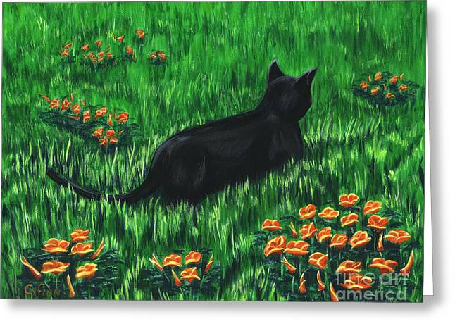 Poppy Cat Greeting Card