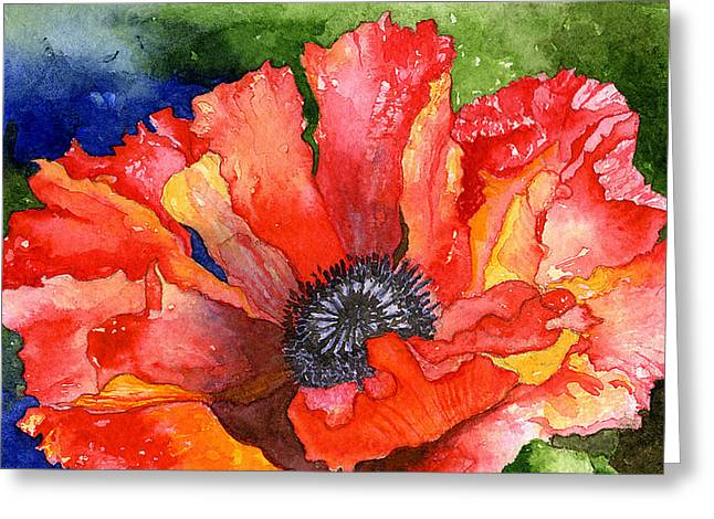 Poppy Greeting Card by Eunice Olson