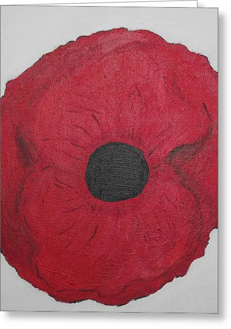 Greeting Card featuring the photograph Poppy Of Rememberance by Martin Blakeley