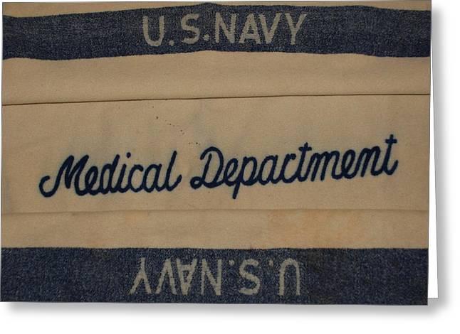 Pops W W I I Navy Blanket Greeting Card