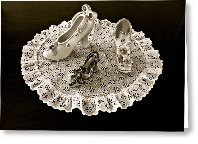 Porcelain And Lace Greeting Card