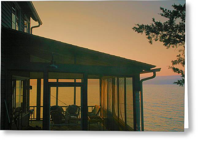 Porch At Dawn Greeting Card by Steven Ainsworth