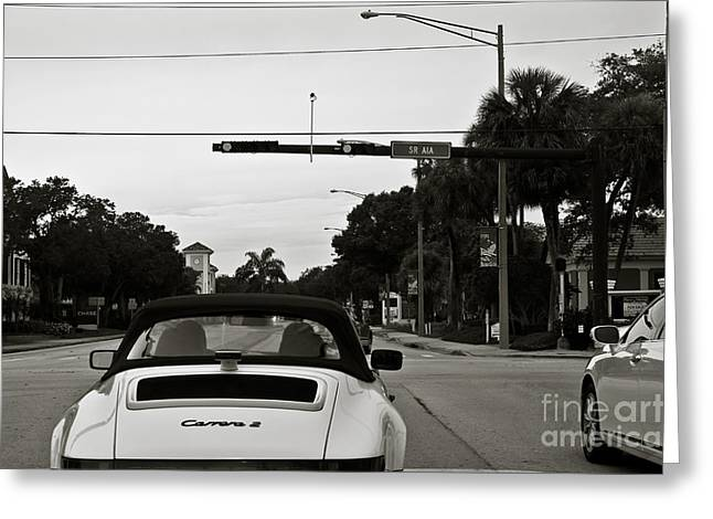Porsche 911 Carrera 2 Greeting Card by Andrew  Cragin