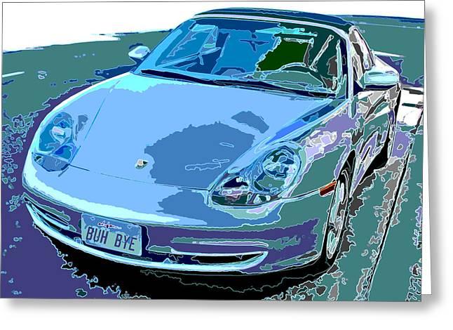 Porsche Carrera Front Angle Study Greeting Card by Samuel Sheats