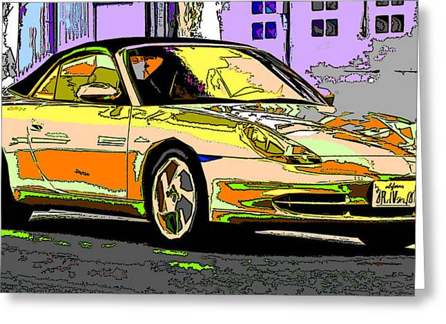 Porsche Carrera Study 4 Greeting Card by Samuel Sheats