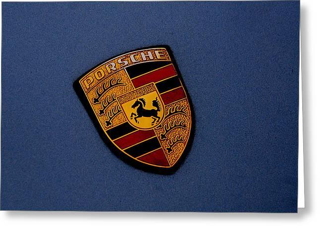 Greeting Card featuring the photograph Porsche Marque by John Schneider