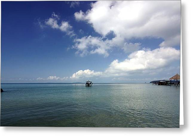Port-lanscape Greeting Card by Arik S Mintorogo