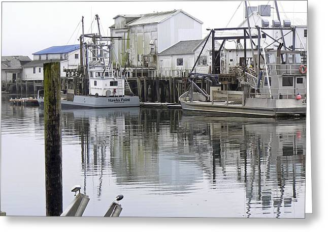 Port Of Nahcotta Greeting Card by Pamela Patch