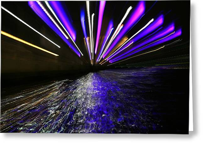 Port Slide Lightz Greeting Card