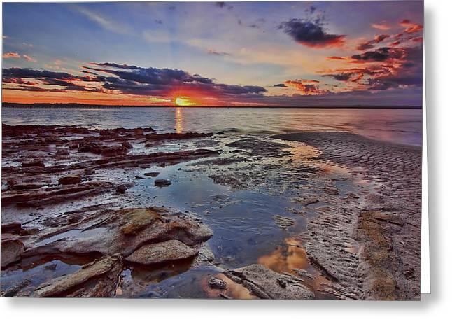 Port Stephens Sunset Greeting Card