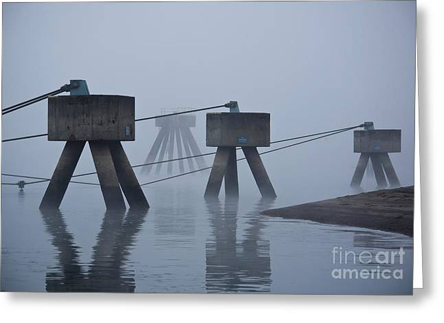 Port Structures Greeting Card by David Buffington