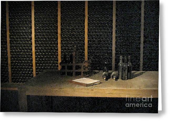 Port Wine Cellar Greeting Card by Arlene Carmel