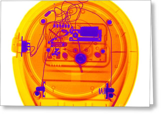 Portable Clock Greeting Card by Ted Kinsman