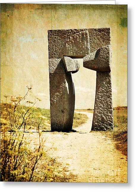 Portal - La Coruna Greeting Card by Mary Machare