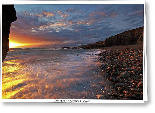 Greeting Card featuring the photograph Porth Swtan Cove by Beverly Cash