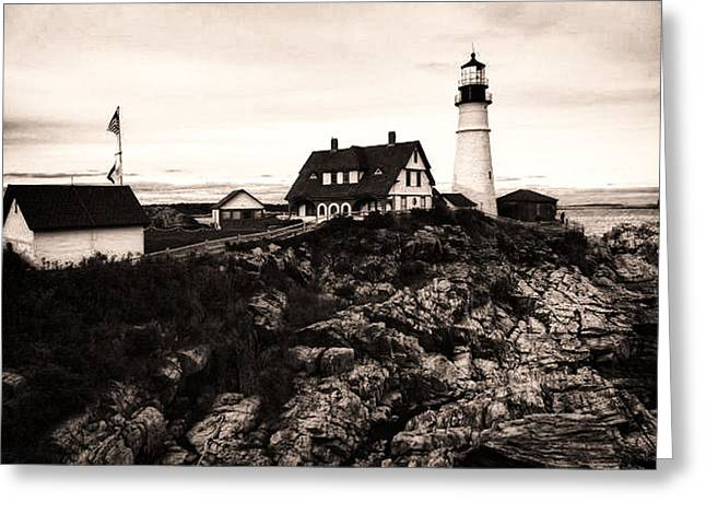 Greeting Card featuring the photograph Portland Head by Kelly Reber