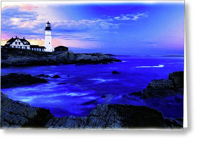 Portland Head Lighthouse Greeting Card by Fred Kirchhoff