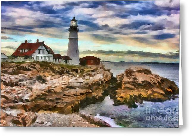 Portland Head Lighthouse In Portland Maine Greeting Card