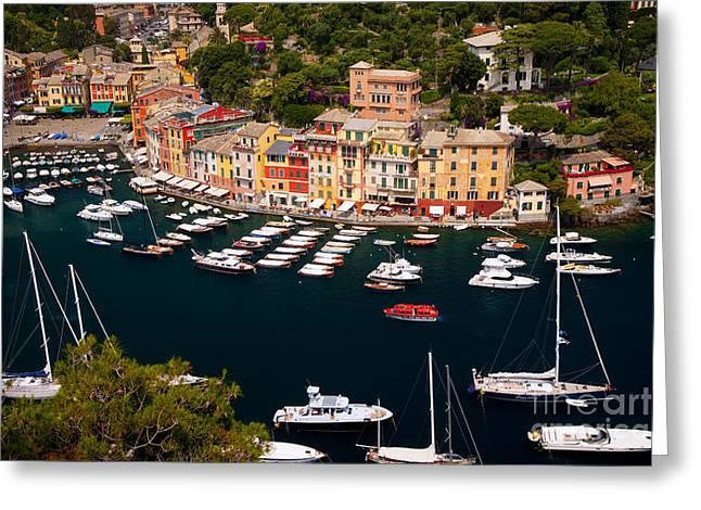 Portofino Greeting Card by Brian Jannsen