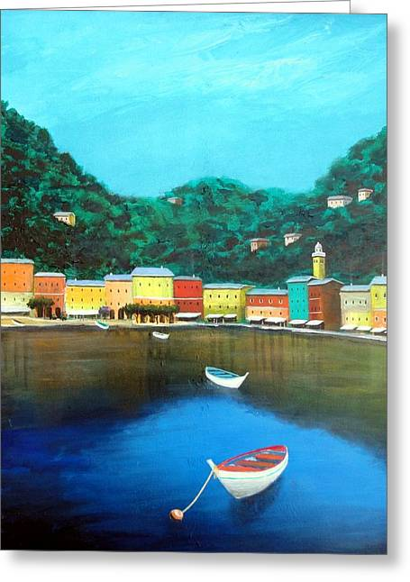 Portofino Greeting Card by Larry Cirigliano