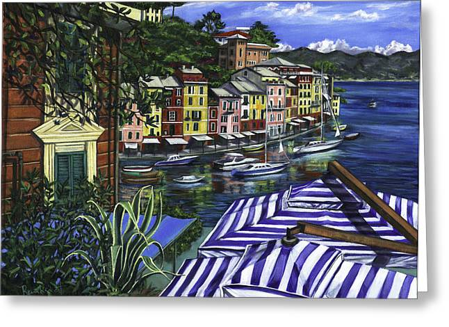 Portofino Greeting Card by Lisa Reinhardt