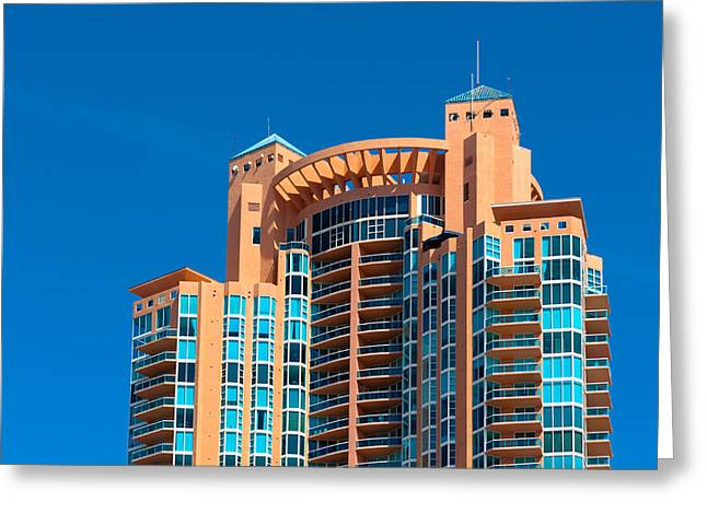 Portofino Tower At Miami Beach Greeting Card
