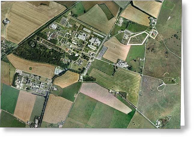 Porton Down, Aerial Photograph Greeting Card