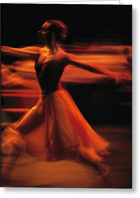 Portrait Of A Ballet Dancer Bathed Greeting Card by Michael Nichols