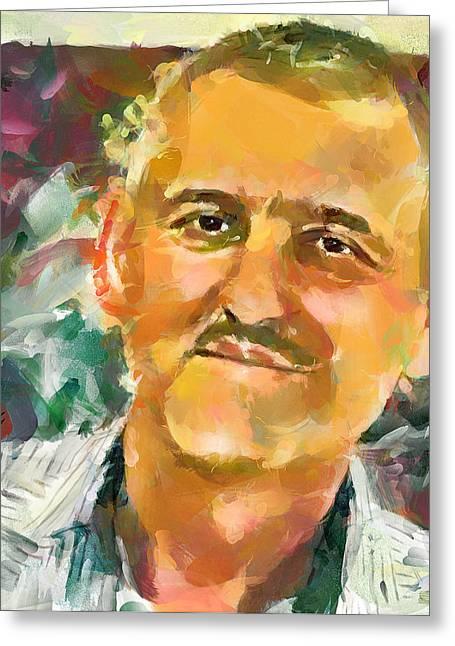 Portrait Of A Painter Greeting Card by Yury Malkov