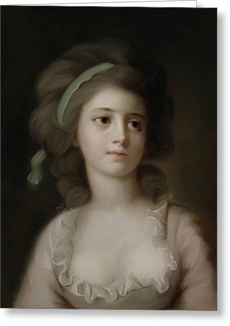Portrait Of A Young Lady Greeting Card by French School