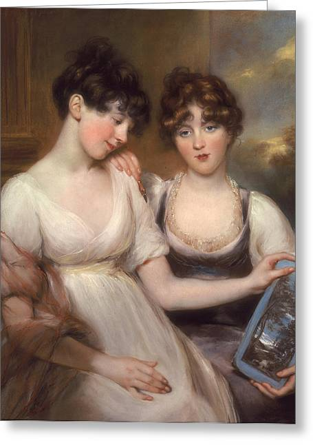 Portrait Of Anne And Maria Russell Greeting Card