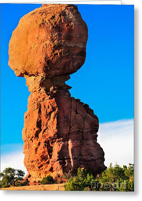 Portrait Of Balance Rock Greeting Card by Robert Bales
