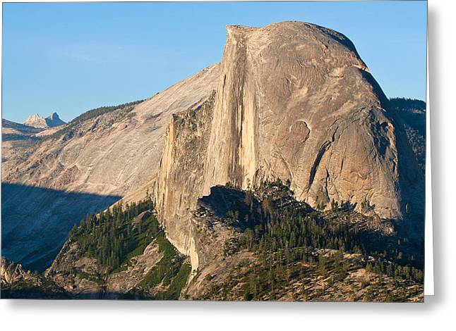 Portrait Of Half Dome Greeting Card by Adam Pender