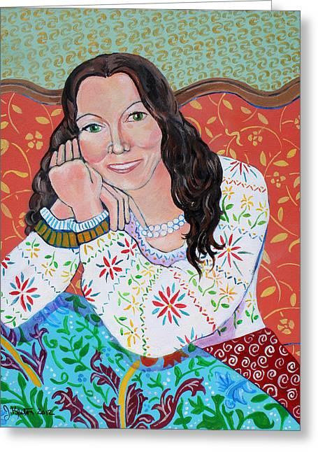 Portrait Of Kim Greeting Card by John Keaton