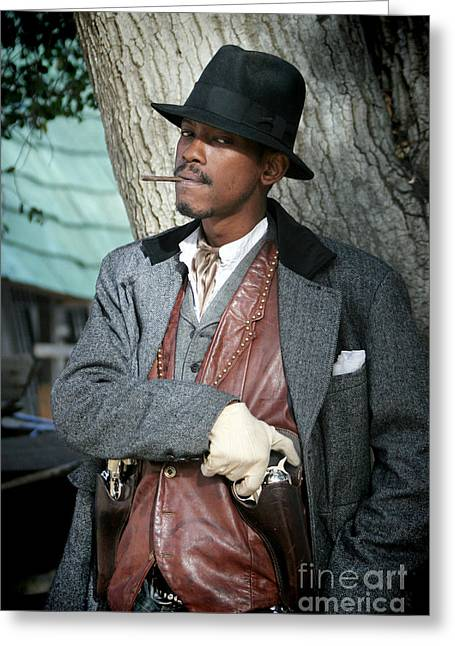 Portrait Of Kurupt Greeting Card by Nina Prommer