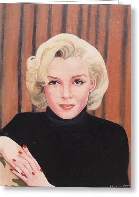 Portrait Of Marilyn Greeting Card