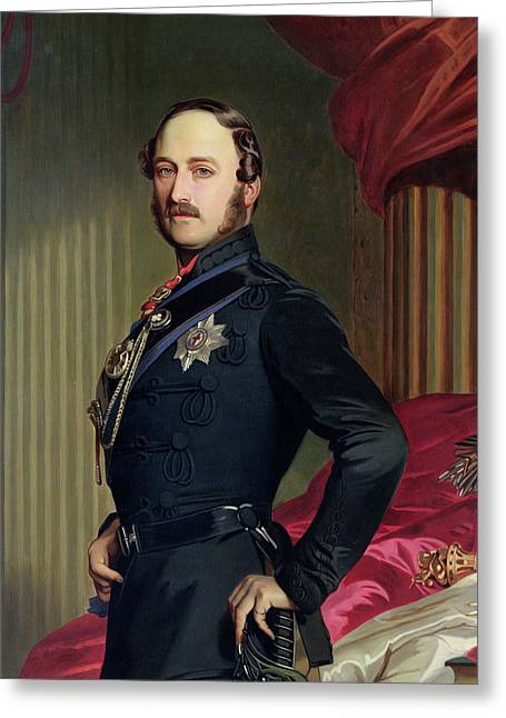 Portrait Of Prince Albert Greeting Card by Franz Xavier
