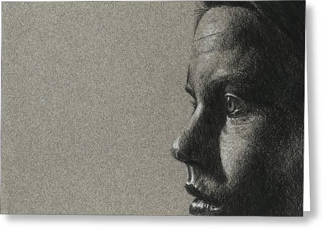 Portrait Of S Greeting Card by David Kleinsasser