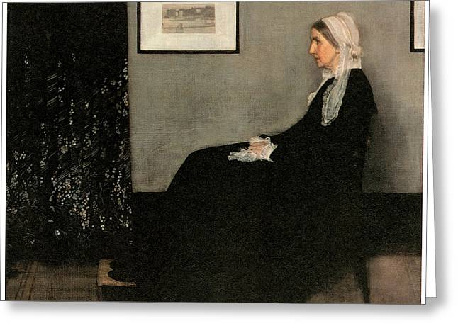 Portrait Of The Artist's Mother Greeting Card by James Abbott McNeill Whistler
