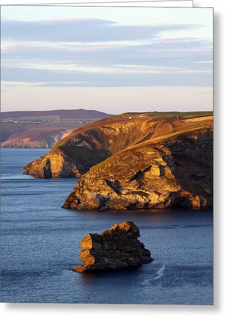 Portreath North Cliffs Greeting Card